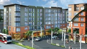 Portland-area's The Platform District, a mixed-use, 609 residential unit project developed by Holland Partners in Hillsboro, Ore.