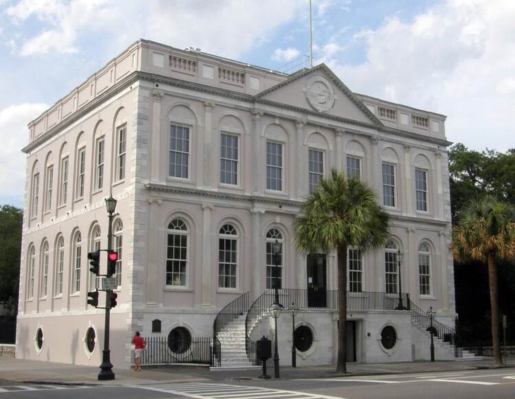 Charleston's 1804 City Hall, which was restored during Riley's tenure