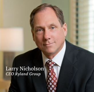 Larry T. Nicholson, CEO of Ryland Homes, Photo courtesy of Ryland Homes