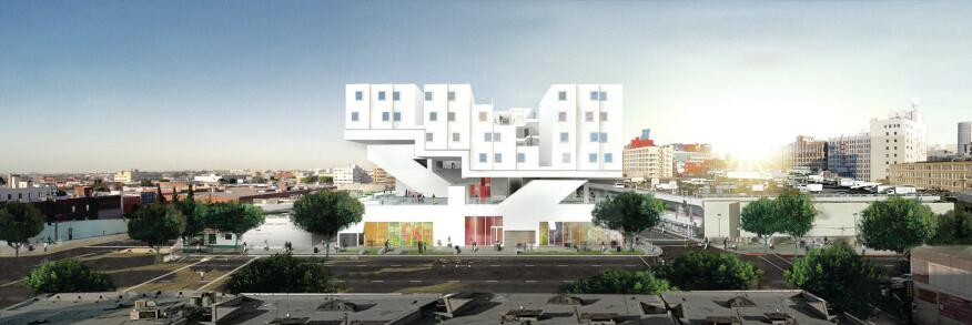 Michael Maltzan's Star Apartments in Los Angeles, designed with 104 units for the Skid Row Housing Trust.