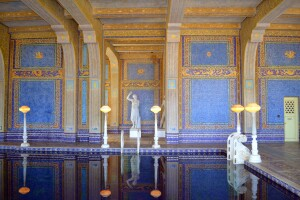 The indoor swimming pool at Hearst Castle. An indoor pool can cost a home owner between $150,000 and over $1 million.