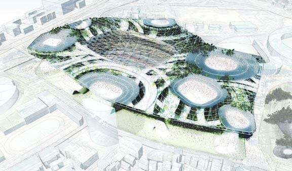 The proposal for the new National Stadium of Japan by Populous.
