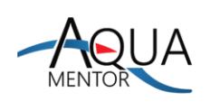 Suspended Aquatic Mentor, Inc./Metropolitan Defibrillator Service Logo