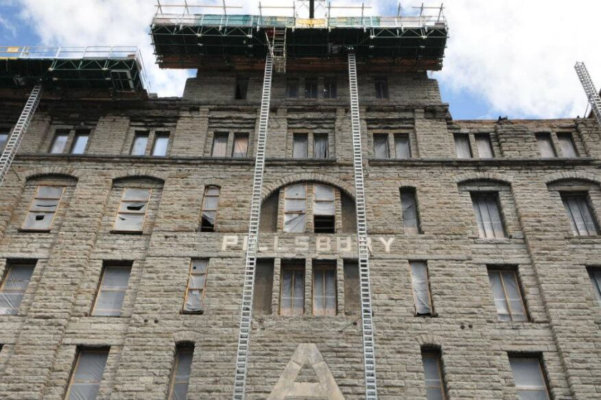 Dominium is transforming a former Pillsbury flour mill into artist lofts in Minneapolis. Photo courtesy of Dominium.