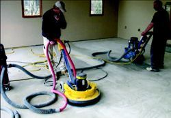 Polyaspartic polyureas don't require the deep profile preparations that other coatings do. Garage Floors 1 discovered that they could quickly diamond grind a garage floor surface with 80 grit pads to prepare the concrete surface.