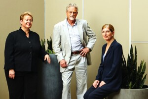 From left, Martha Kegel, executive director of UNITY of Greater New Orleans; Pres Kabacoff, CEO of HRI Properties; and Rosanne Haggerty, president and CEO of Community Solutions partnered on the Rosa F. Keller Building in New Orleans, which provided needed housing for some of the city's chronically homeless individuals and other low-income households.