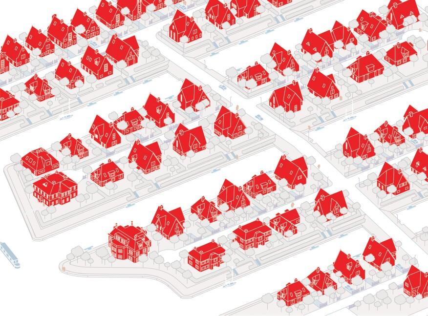Residential texture of Huis Ten Bosch
