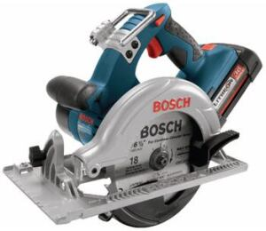 CIRCULAR LOGIC: The manufacturer claims that this 36-volt circular saw boasts 26 percent more  run time than its closest competition. It delivers 4,000 revolutions per  minute and can handle tough applications, such as 45-degree bevel cuts at  high speeds. Two battery power systems are available: a FatPack with a long  run time and a SlimPack, which has about 50 percent less power but weighs  one pound less. Bosch Power Tools. 877-267-2499. www.bosch.us.