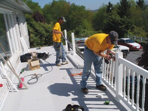 Central Pennsylvania company 732-deck specializes in rails and re-decks.