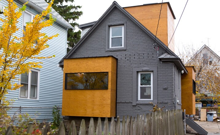 Quad Space, a thesis project for several Buffalo students who transformed a dilapidated house into a stylish 650-square-foot tiny home