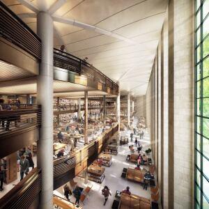 Library atrium.