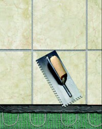 For a spa-like atmosphere, manufacturers say that most homeowners set their radiant floor heating to about 85∞F.