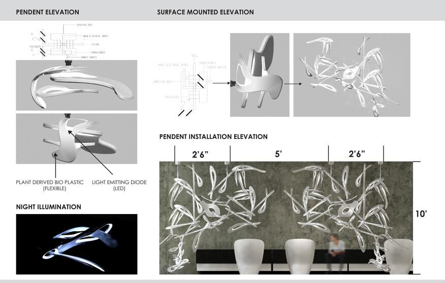 "Chelsea Brukardt's first place winning design called ""Surrealist."""