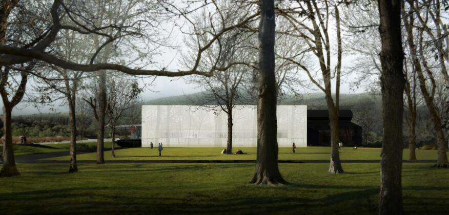 The final design for the new North Wing of the Corning Museum of Glass in Corning, N.Y., designed by Thomas Phifer and Partners.