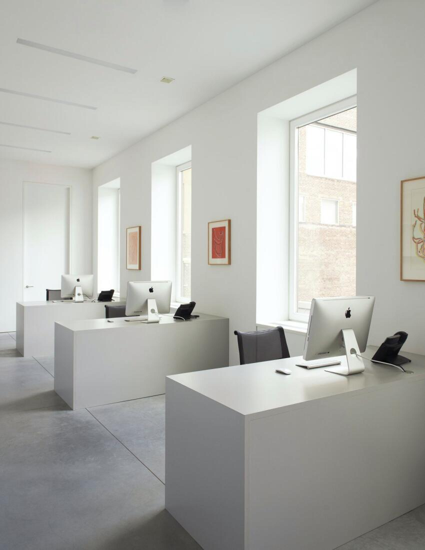 David Zwirner also houses a working office for art dealers.