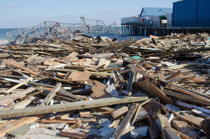 Hurricane Sandy, which hit in October 2012, devastated much of coastal New Jersey.