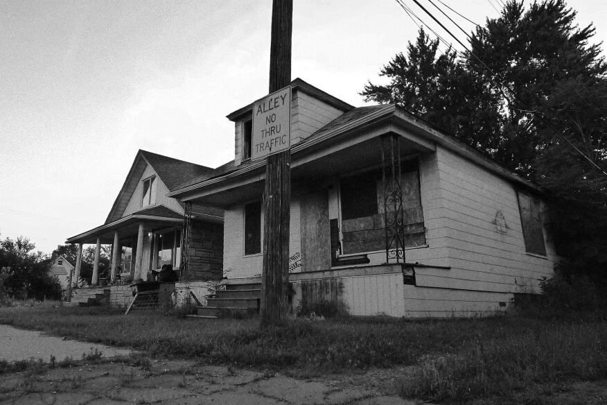 Before: Afterhouse site at 3347 Burnside Ave., Detroit, Mich.