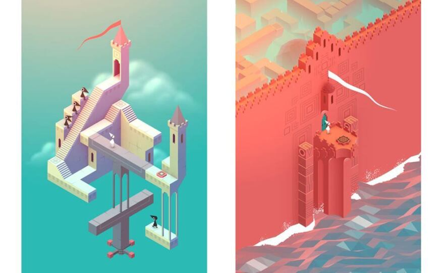 Monument Valley, a video game designed by Ken Wong and programmed by Manesh and Van Le.