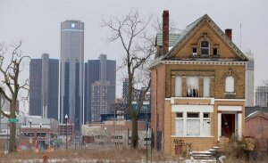 New York Times photo of Detroit home vacancy.