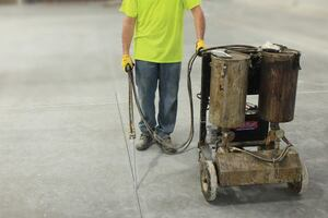 Filling Control Joints in Concrete Slabs