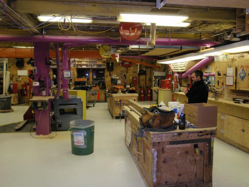 The current McMurdo Carpentry Shop, also known as Building 191.