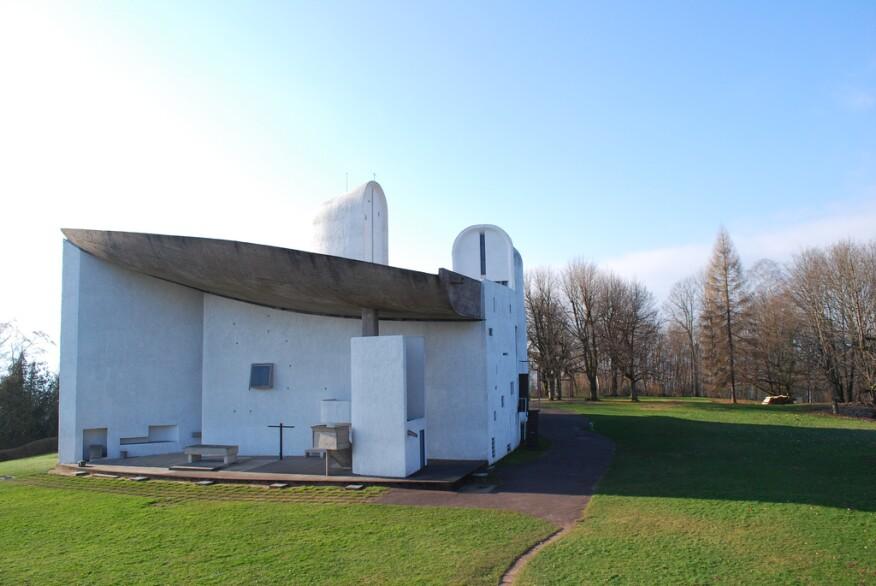 Notre Dame du Haut, Ronchamp, France, by Le Corbusier
