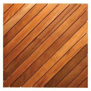 These teak deck tiles from Dallas-based East Teak Fine Hardwoods can be used to retrofit an old stone patio or to create a completely new deck area. Made from kiln-dried plantation-grown teak containing natural oils for water and weather resistance, each tile measures roughly 19.7 inches square and can be specified in a straight or diagonal configuration. Also available in ipe. East Teak Fine Hardwoods, 214.751.8988; www.eastteak.com.