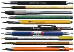 "OBJECT LESSON  German manufacturer A.W. Faber introduced the first leadholder in an 1862 catalog advertising ""New Artists' Pencils with Refillable Lead Suitable for Design, Architecture, and Office."" The leadholder's popularity grew in the 20th century as reprographics improved, allowing architects to print directly from pencil drawings rather than inked sets."