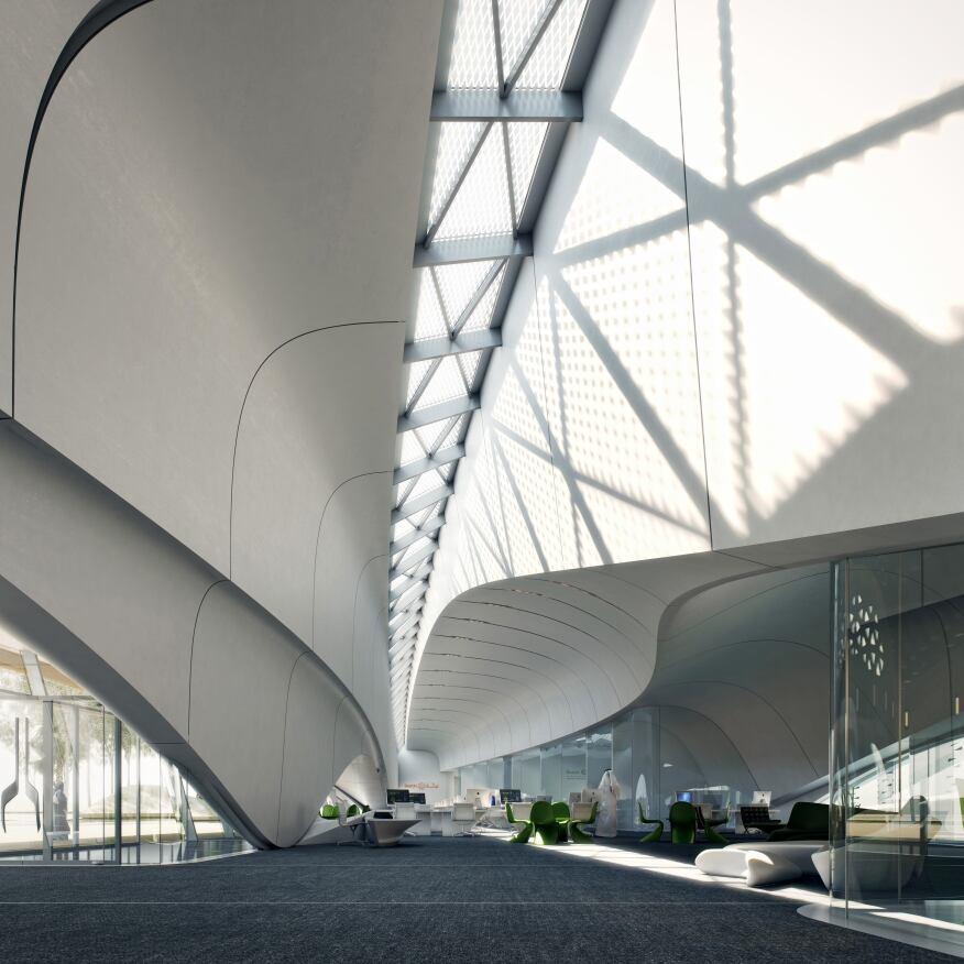 Bee'ah Headquarters, Zaha Hadid Architects, Sharjah,United Arab Emirates
