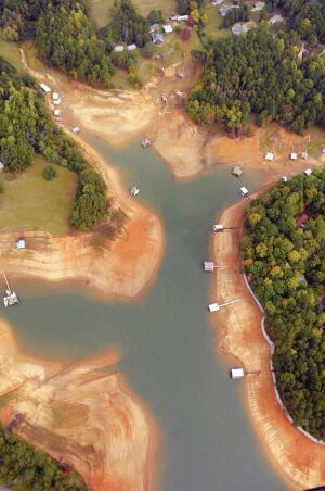 Images of a depleted Lake Lanier, Atlantas main water source, came to symbolize the severity of one of the worst droughts in Georgia history. The 20072008 crisis raised the awareness that water shortages are not limited to Southwestern states.