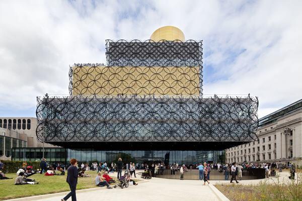 The Library of Birmingham, designed by Mecanoo Architecten.