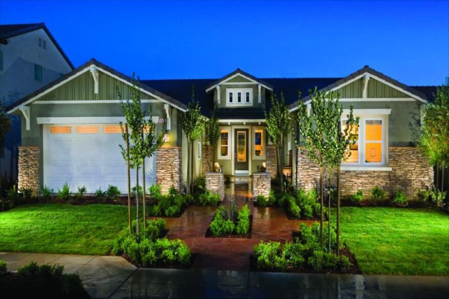 Broad Appeal: Plans at Madison Place range from modest, single-story homes of 1,450 square feet to two-story move-up residences topping 3,892 square feet. Plan 2 won a 2008 Gold Nugget merit award for best single-family detached home under 2,500 square feet on a conventional lot.