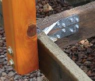 Figure 1. Simpson Strong-Tie's DTT2Z connectors anchor the guardrail posts to 2x6 joists, but deeper joists would have made the guardrails even stronger.