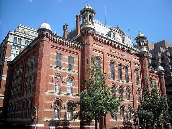 The Franklin School, built in 1865, is a National Historic Landmark.