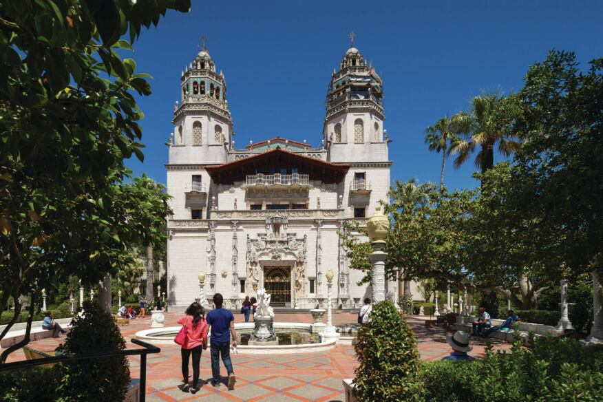The Hearst Castle in San Simeon, Calif. (construction began in 1919).