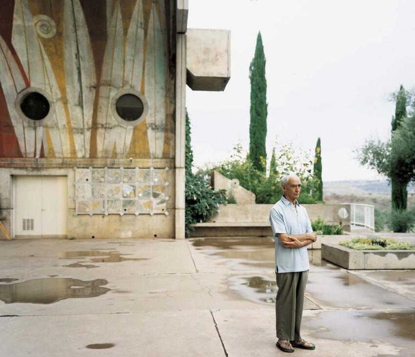 Paolo Soleri at Arcosanti, Cordes Junction, Ariz., August 2000
