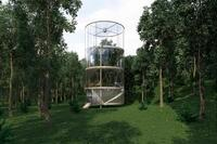 An Exotic, Sustainable Tree House Made of Glass