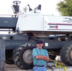 Rod Baster with his 2-month old laser screed—one of only three in the entire state of Idaho.