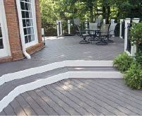 Figure 6. Building transitional steps one board wider makes them more noticeable and provides ample space for seating.