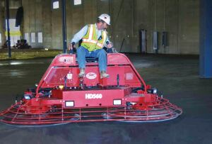 Ride-on trowels are becoming bigger, heavier, and more efficient. Because its so easy to make multiple passes, floor finishes are becoming harder and more dense, reducing abrasive wear.