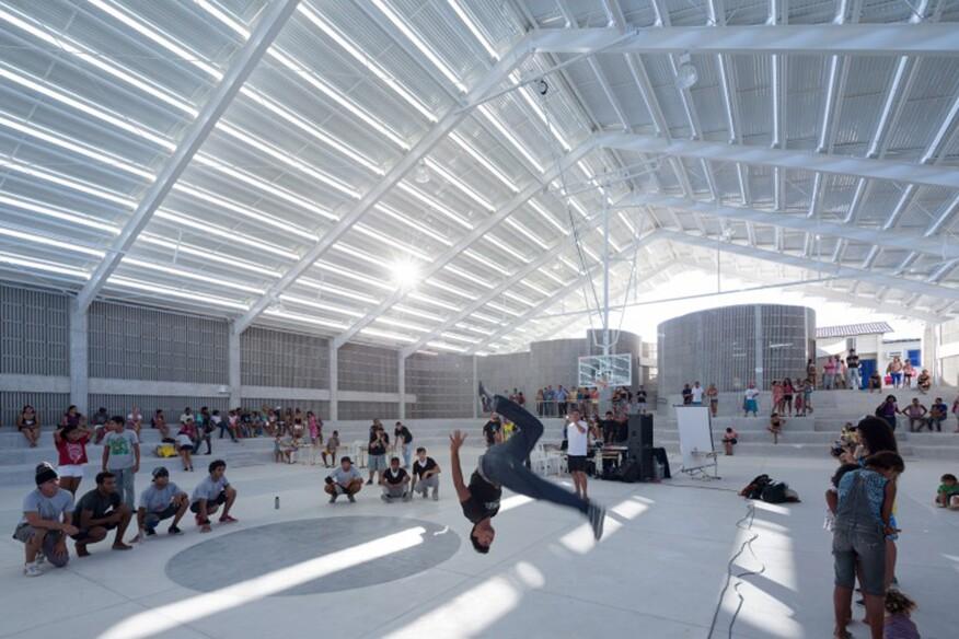 """Natal Gymnasium, by Herzog & de Meuron"" (2014, chromogenic photograph)"