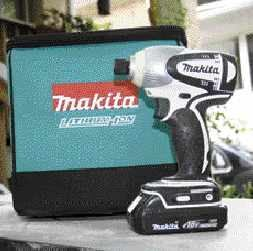 Sold with a soft-sided case, Makita's compact impact driver performs much like the company's larger, more expensive BTD140. However, it weighs a half-pound less, largely because it comes with smaller, 1.5-amp-hour batteries.