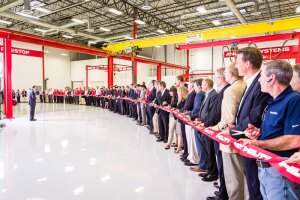 Ribbon cutting at Hilti Western Hemisphere Product Development and Tool Service Center