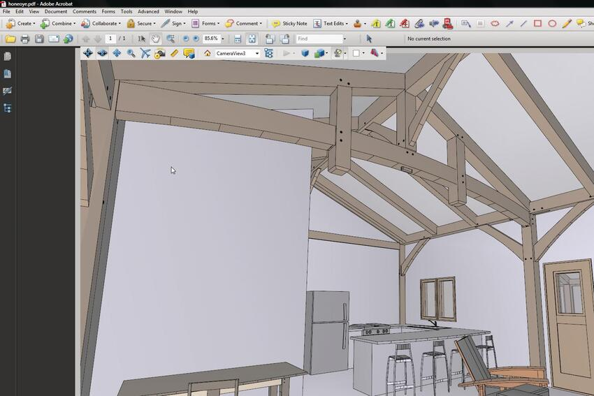 Virtual Ease: Using 3-D PDFs to Convey a Design to Clients