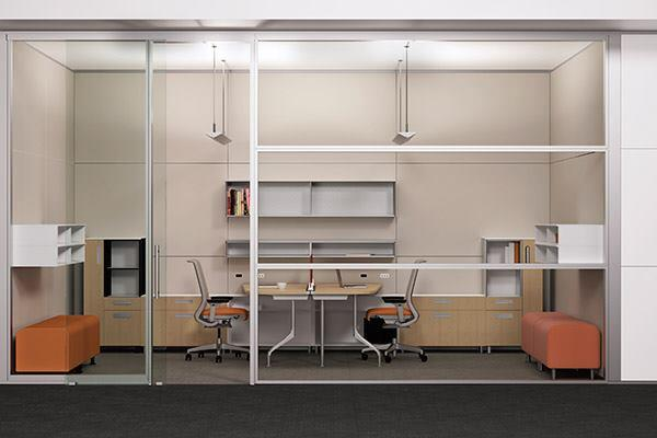 The Michigan-based manufacturer's mobile office shell has a rigid steelframework, interchangeable glass frames and solid skins, and seals at every door, skin, frame, and building connection.
