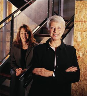 When she wanted a formalized sales method, Donna Bade Shirey (right) turned to Sandler Systems. She credits the training for helping boost her company's sales to $3 million. Using her training and Sandler cassette tapes, she's now schooling her new sales consultant, Carolyn Thomas (rear), in the techniques of the popular system.