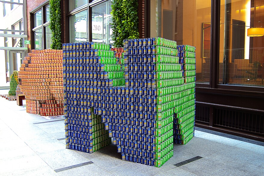 Nint-END-o-Hunger, by Simpson Gumpertz & Heger (5,928 cans)