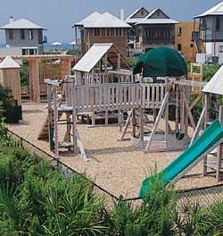Successful TNDs, like Rosemary Beach, include a variety of public spaces, including pocket parks that are accessible and visible to houses.