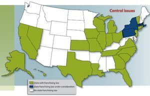 Before 2005,, four states had passed laws governing cable franchise terms at the state level; since then, 20 more have passed such laws. Source: Miller & Van Eaton n LLC