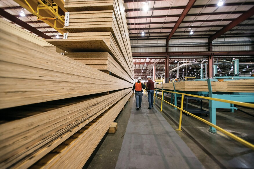 James McGuyre gives a tour of Weyerhaeuser's Castleberry plant, which shuttered during the recession and reopened in November 2013.